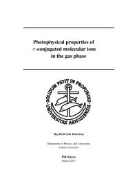 Photophysical properties of π-conjugated molecular ions in the gas ...