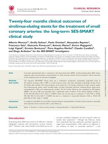 Twenty-four months clinical outcomes of sirolimus-eluting stents for ...
