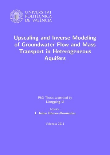 Upscaling and Inverse Modeling of Groundwater Flow and Mass ...