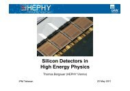Silicon Detectors in High Energy Physics - Experimental High ...