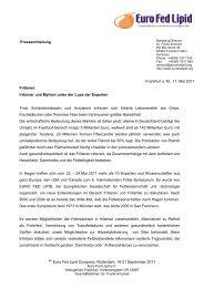 Ausschreibung des H.P. Kaufmann-Preises 1996 - Euro Fed Lipid
