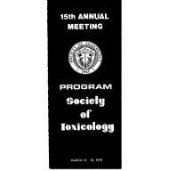 n - Society of Toxicology