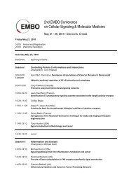 2nd EMBO Conference on Cellular Signaling & Molecular Medicine