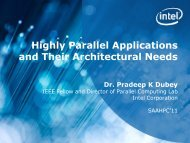 Highly Parallel Applications and Their Architectural Needs