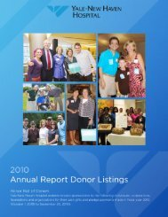 View a printable version of the Donor Listing - Yale-New Haven ...