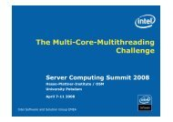 The Multicore-Multithreading Challenge - Operating Systems and ...