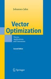 Vector Optimization: Theory, Applications, and Extensions (Second ...