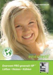Enervent PRO greenair HP Lüften • Heizen • Kühlen