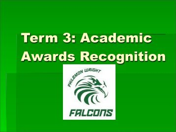 Term 1: Academic Awards Recognition