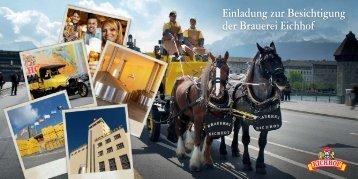 Einladung zur Besichtigung der Brauerei Eichhof
