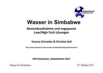 Wasser in Simbabwe - Ingenieure ohne Grenzen