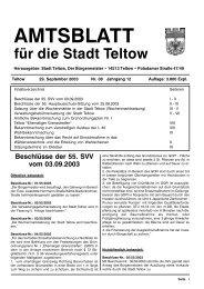 AMTSBLATT - der Stadt Teltow