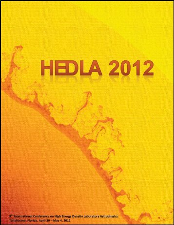 HEDLA2012 booklet - 9th International Conference on High Energy ...