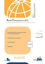Audit Competence 2012 - Institut für Interne Revision Österreich