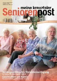 Seniorenpost 2009/2 - Stiftung Diakoniestation Kreuztal