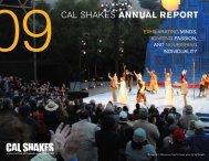 09CAL SHAKES ANNUAL REPORT - California Shakespeare Theater