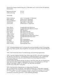 Protokoll der Vorstandssitzung 29.10.09 - IPZV Landesverband ...