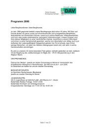Programm 2006 - DAV Sektion Schwaben