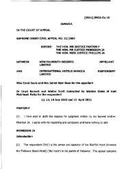 New Falmouth Resorts v International Hotels - The Court of Appeal