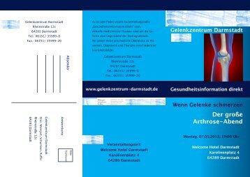 Der große Arthrose-Abend - Gelenkzentrum Darmstadt