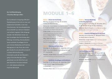 Module 1–6 - Deutsches Franchise Institut GmbH