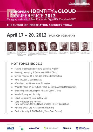 April 17 – 20, 2012 MUNICH I GERMANY - KuppingerCole