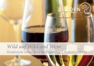 Flyer Wild auf Wild und Wein.indd - Hotel EDEN im Park