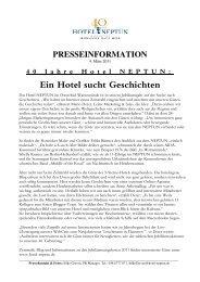 Ein Hotel sucht Geschichten - Hotel Neptun