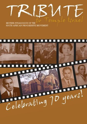 Tribute to Temple Israel - South African Union for Progressive Judaism