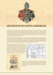 Geschichte des hotels BerGBlick - Hotel Bergblick