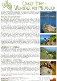 cinque terre 2013 - Wandern & Wein in Italien.