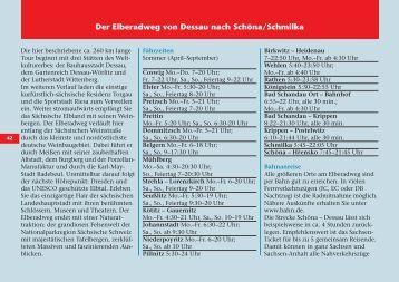 Der Elberadweg von Dessau nach Schöna/Schmilka - NaKole.cz