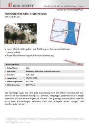 Hotel Maritim Köln, 4-Sterne-plus - REAL INVEST