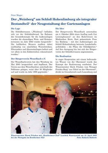Weinberg - Heimatverein Hohenlimburg