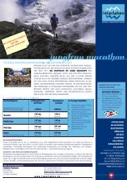 package Jungfrau marathon (6. – 11. september 2012)