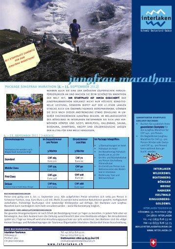package Jungfrau marathon (6. – 11. september 2012)