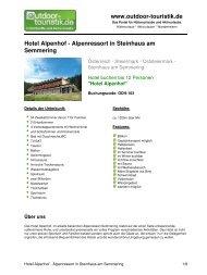 Hotel Alpenhof - Alpenressort in Steinhaus am ... - Outdoor-Touristik