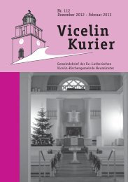Vicelin Courier 112.indd - Ev.- luth. Vicelin - Kirchengemeinde ...