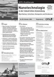 Nanotechnologie in der industriellen Anwendung - temas.ch