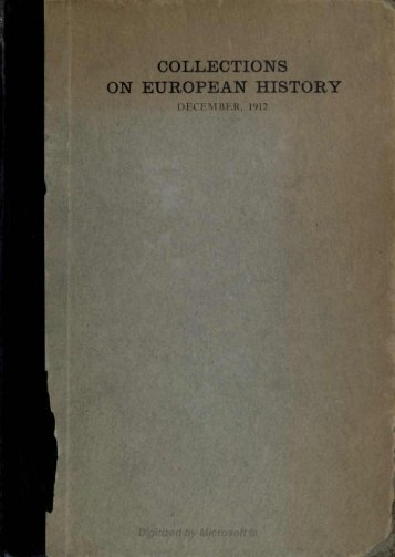 ON EUROPEAN HISTORY - Index of