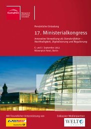 17. Ministerialkongress - BearingPoint ToolBox