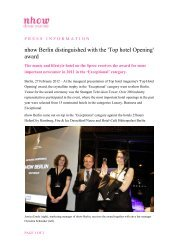 nhow Berlin distinguished with the 'Top hotel Opening' award