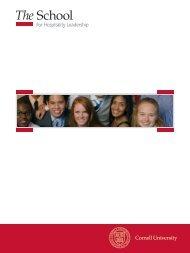 Hotel School Viewbook Pdf(4 MB) - Cornell School of Hotel ...