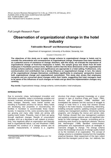 the hospitality industry observations and predictions Established in 1969, the college's school of hospitality, food & tourism management at the university of guelph is committed to developing leaders with a social conscience, an environmental sensibility and a commitment to their communities.