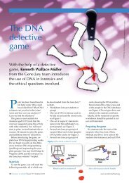 The DNA detective game - Humanities and Social Science ...