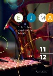 Programme des cours - EJMA