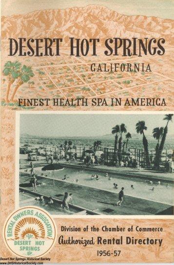 Desert Hot Springs Historical Society www.DHSHistoricalSociety.com