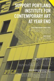 2012 Year End Letter - Portland Institute for Contemporary Art