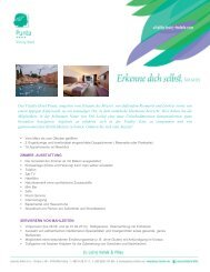 Vitality Hotel Punta FACTSHEET 2013 - Lošinj Hotels & Villas