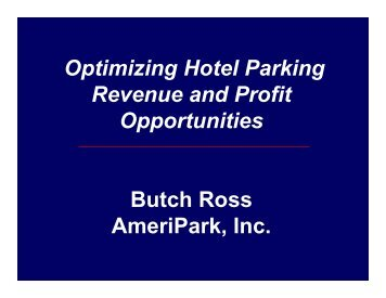 Optimizing Hotel Parking Revenue and Profit Opportunities Butch ...